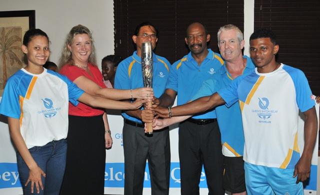 Queen's Baton arrives in Seychelles
