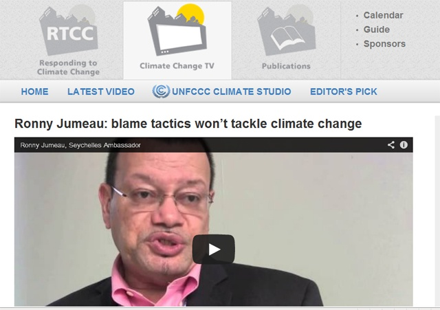 Ronny Jumeau: blame tactics won't tackle climate change