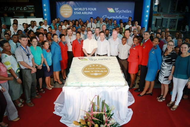 Air Seychelles named four-star airline by Skytrax