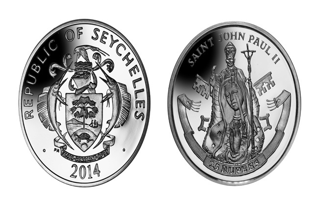 Seychelles coin honours new Catholic saint Pope John Paul II