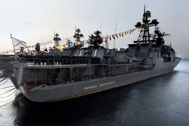 """Marshall Shaposhnikov"" returns to Seychelles, leading a group of Russian naval ships to the islands"