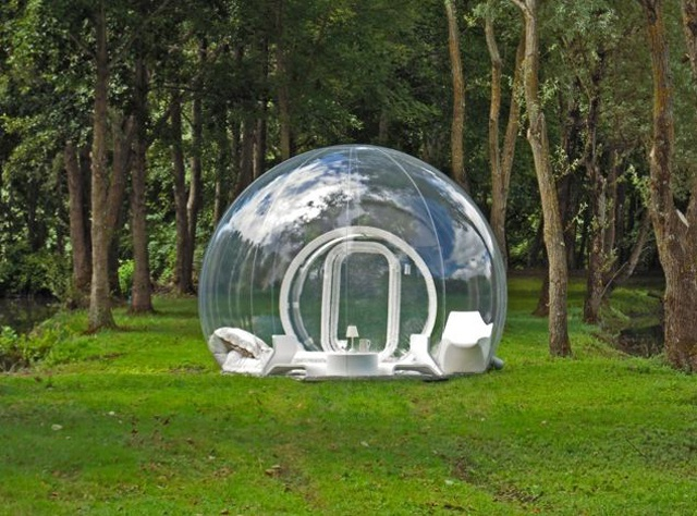 Floating in a bubble – enjoy camping under the stars in your own bio-dome
