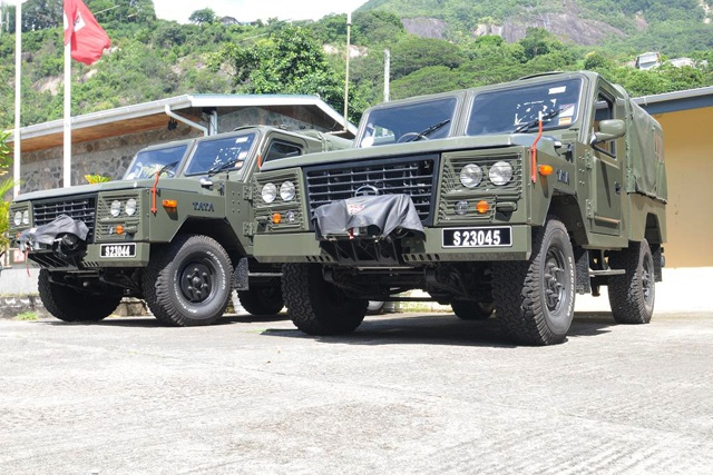 Seychelles military gets new Tata four-wheel drives from India