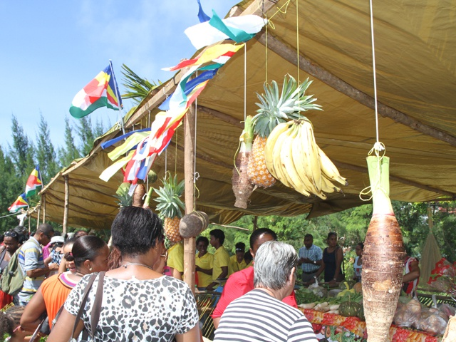 Tropical fruits, vegetables and flowers galore on Seychelles island of Praslin surpasses expectations