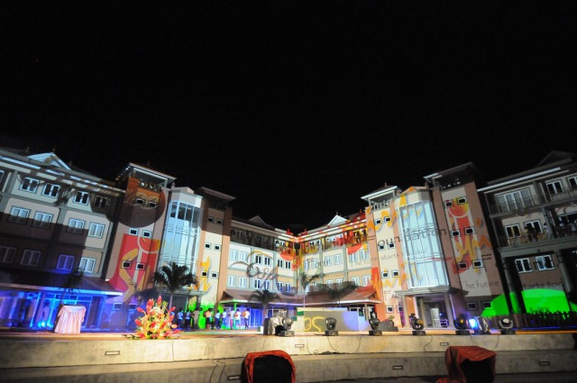 Lights, songs and dance open 'Espace,' one of largest complexes in Seychelles