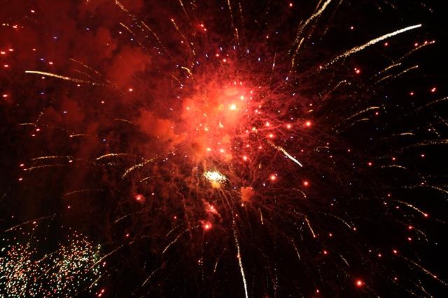 18 juin, fête nationale des Seychelles,  spectacle et feu d'artifice.