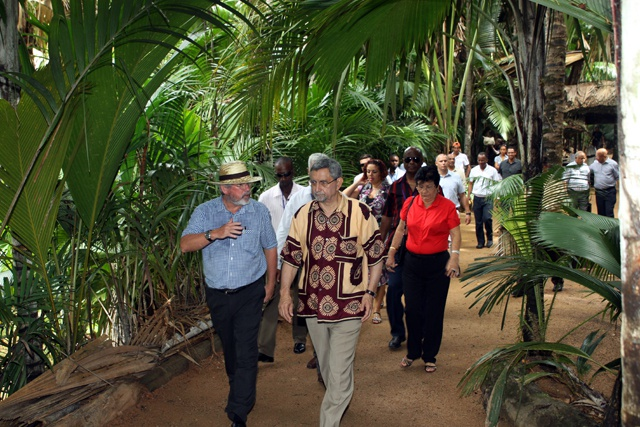 Cabo Verde President visits Seychelles' UNESCO world heritage site of Vallee de Mai