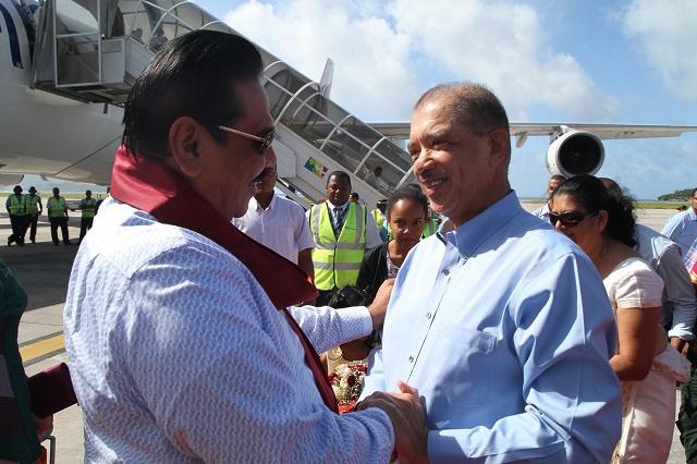 Le président sri lankais Mahinda Rajapaksa est aux Seychelles pour une visite officielle