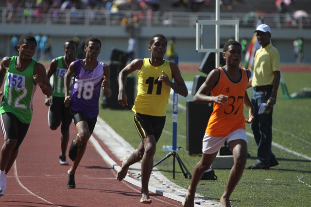 1100 Seychelles school children take part in National Schools Athletics Championship