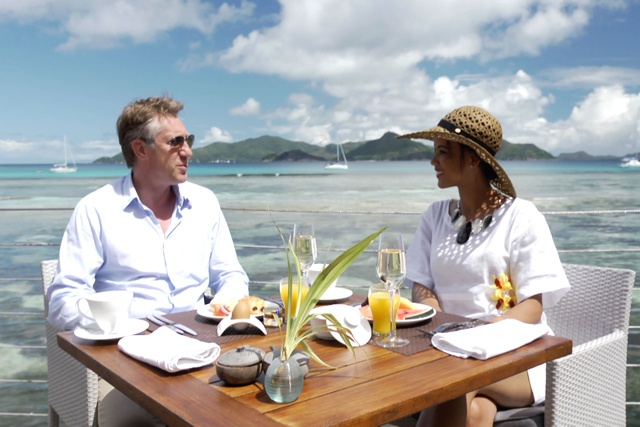Former Miss Seychelles presenting in ' Zoli Seychelles' new TV series on Cat Cocos ferries