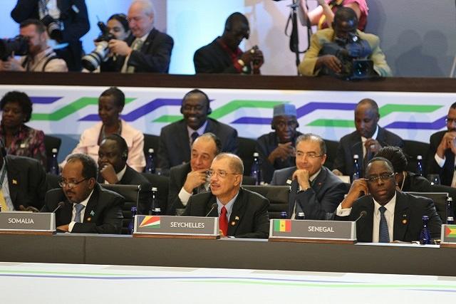 Les Seychelles appellent à la reconnaissance des petits états insulaires, et au potentiel de l'économie bleue, au sommet US Afrique.