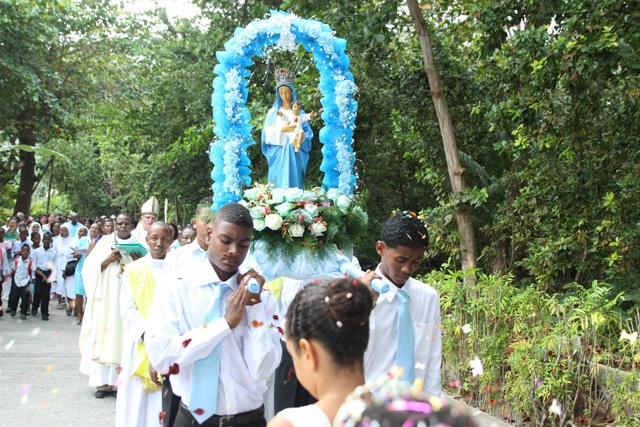 From laid back to buzzing with excitement - La Digue island celebrates the feast of the Assumption