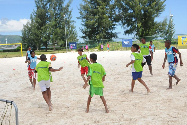 Seychelles gearing up for CAF's African Beach Soccer Championship 2015 – construction of beach soccer stadium gets underway