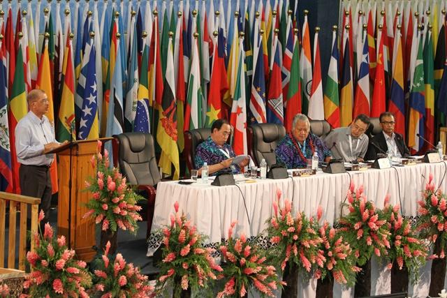 Les Seychelles présentent quatre propositions majeures pour le développement durable des PIED, à l'ouverture de la conférence de Samoa.