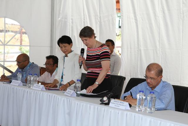 Le président des Seychelles plaide en faveur d'une économie bleue, au centre du développement des PIED.