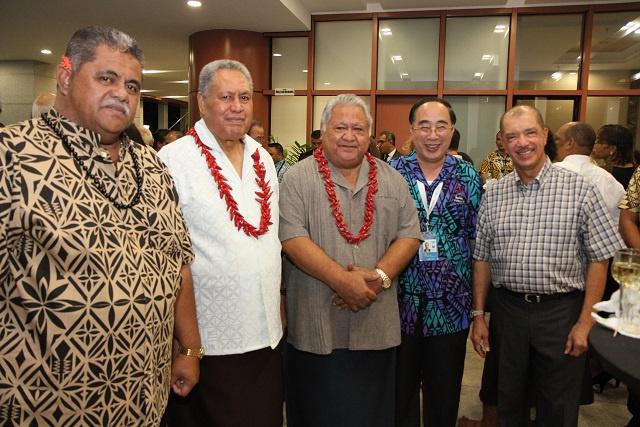 Le président, des Seychelles profite de la conférence des PEID à Samoa pour defendre le concept de l'économie bleue, et des îles vanille