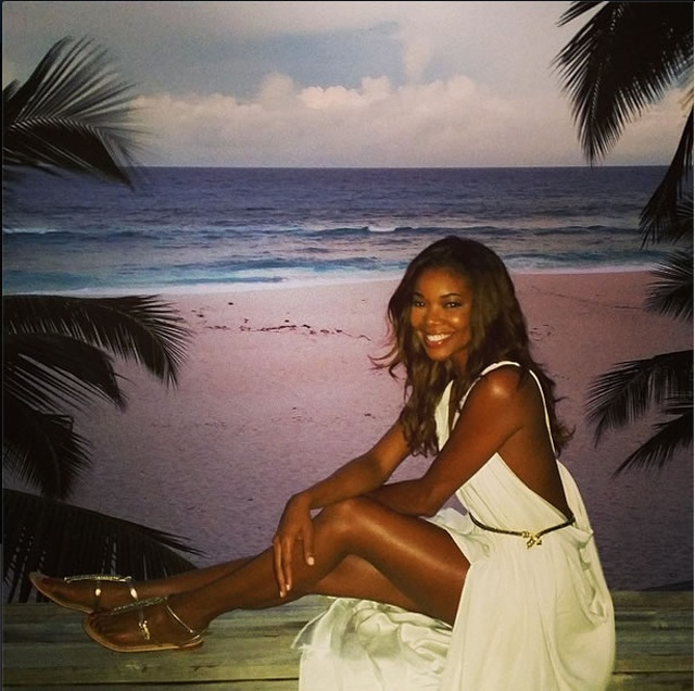 A Union made in paradise! American actress Gabrielle Union says goodbye to Seychelles in last leg of honeymoon trip