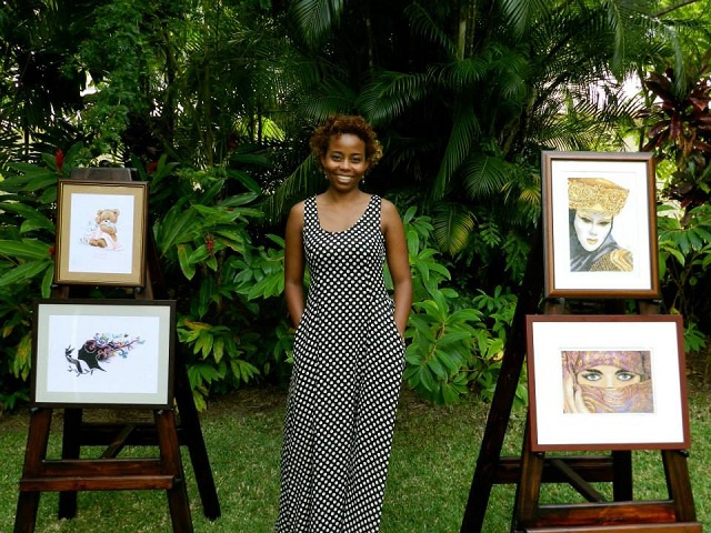 Young and dedicated – Seychelles' new artist brings cross-stitch to life in dazzling exhibition
