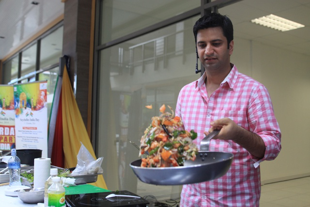 Masterchef Kunal Kapur sizzles at Seychelles' Eden Plaza