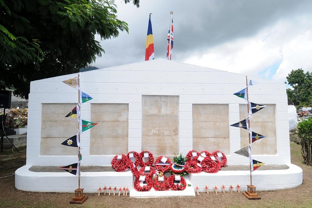 Seychelles' war victims honoured on Remembrance Sunday