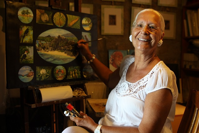 Artiste italienne Alexandra Azaïs « Visages, paysages et mémoires des Seychelles »