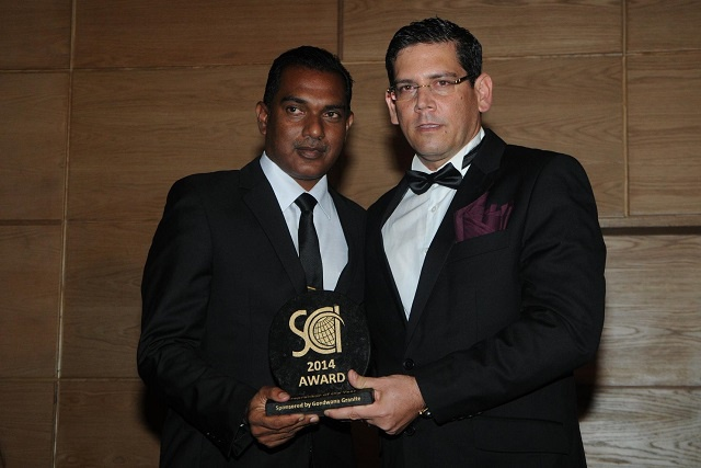 Andrew Padayachy is declared Seychelles Entrepreneur of the Year at glamorous Business Ball