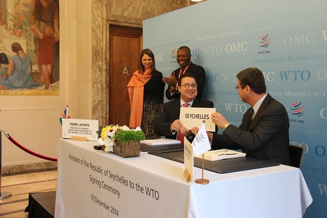 L'OMC accepte l'adhésion des Seychelles