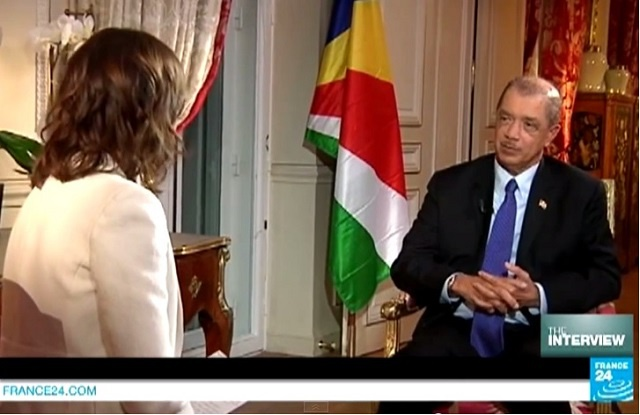 'The world must do something' about climate change, says Seychelles President to France 24