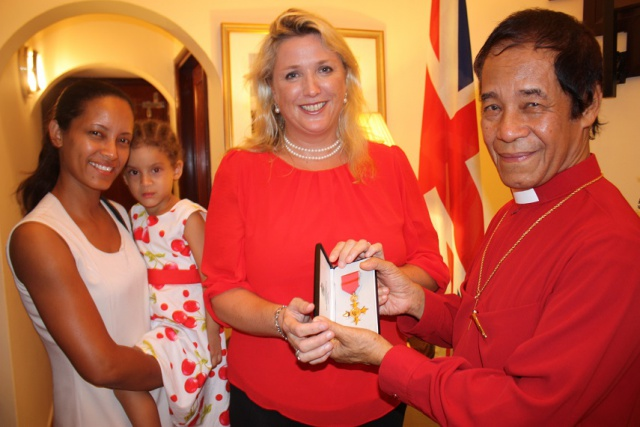 British government awards rare honour to Seychelles Archbishop Emeritus French Chang-Him