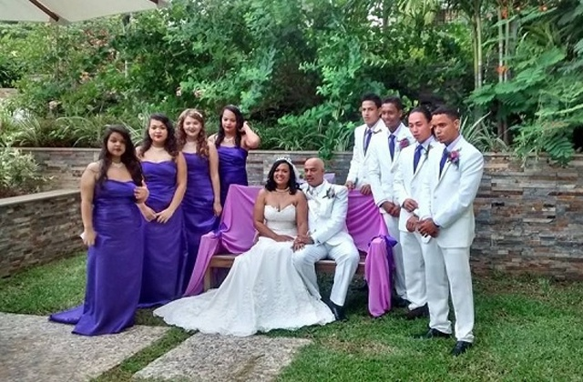 Leader of the opposition David Pierre ties the knot