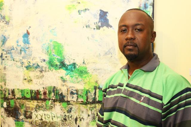 Un franc succès pour l'exposition solo du peintre Jude Ally à l'Alliance Française des Seychelles.