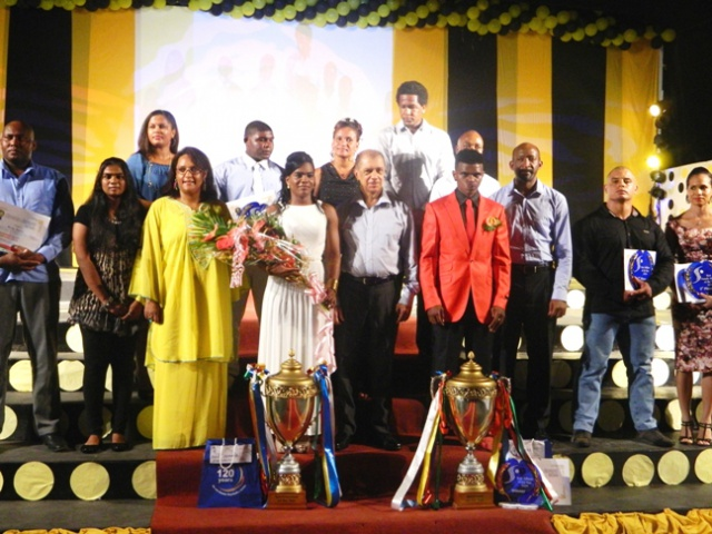 Boxer Andrique Allisop and weightlifter Clementina Agricole triumphant at Seychelles Sports Awards 2014