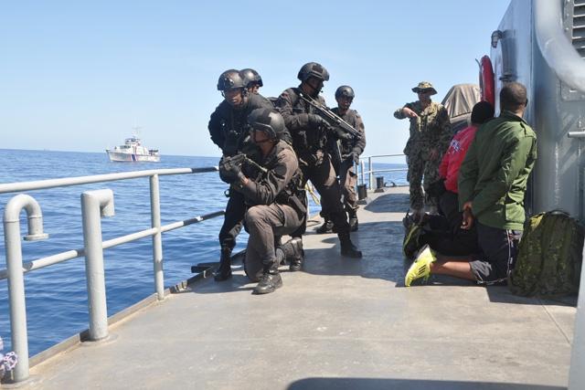 Seychelles military returns from regional Cutlass Express maritime training session