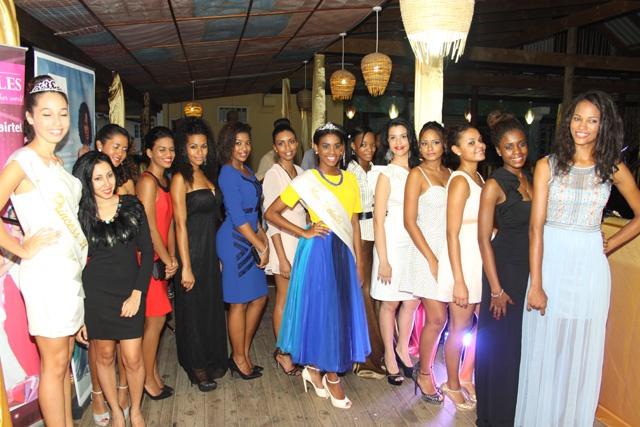 Les finalistes du concours Miss Seychelles 2015, dévoilées à la presse