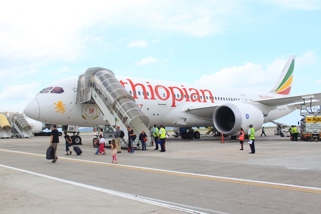A unique experience: Ethiopian Airlines brings B787 Dreamliner to Seychelles