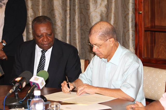 No longer bystanders in global processes - Seychelles President Michel signs ratified WTO accession protocol