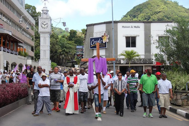 Seychelles Christians observe Good Friday with Stations of the Cross march