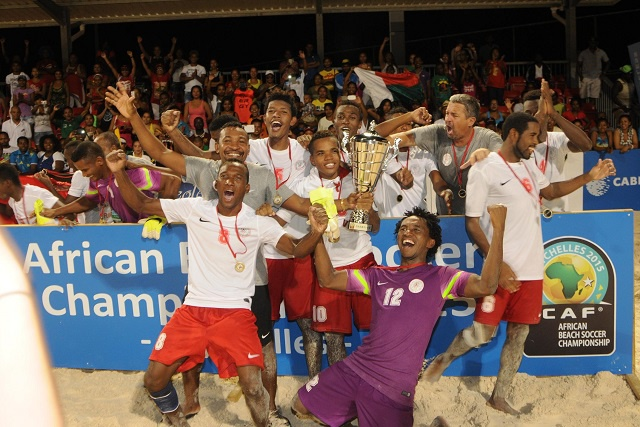 Madagascar crowned African beach soccer champion - CAF 2015 championship in Seychelles dubbed a sucess