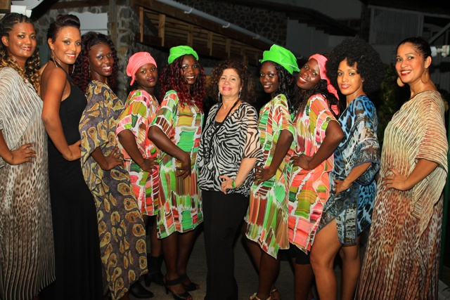 Female DJ Sabrina Terence and design house Mangouya rock Seychelles FetAfrik fashion show