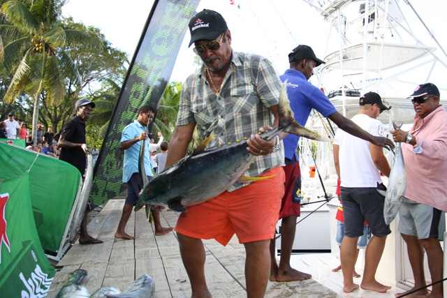 Tight competition as Seychelles anglers bring in record 14 slams in SSFC-Heineken tournament