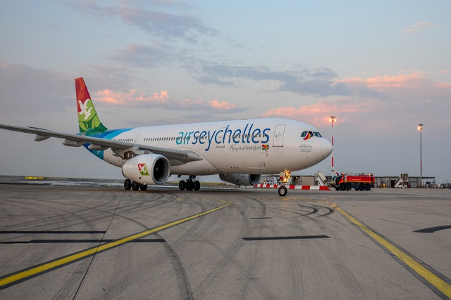 Now only 10 hours away: first Air Seychelles nonstop flight touches down in Paris
