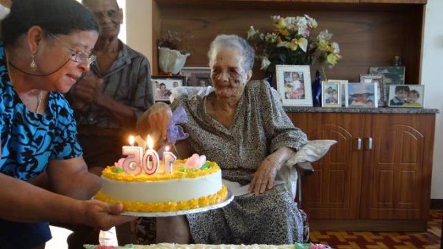Seychelles centenarian still going strong: Marguerite Hoareau turns 105