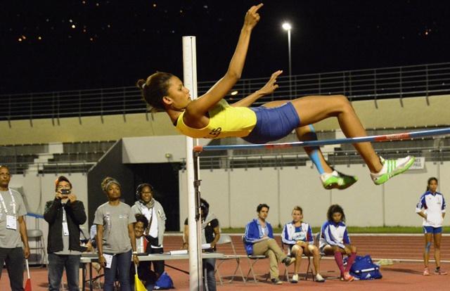 La spécialiste du saut en hauteur gagne la première médaille d'or pour les Seychelles aux Jeux des îles de l'océan Indien