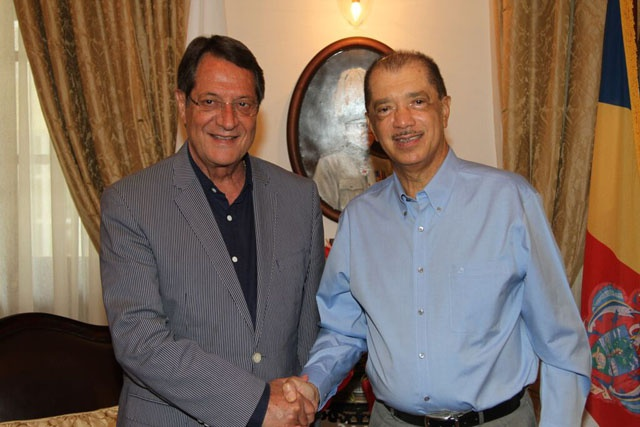 'Historical bond' and possible strengthening of cooperation explored as Seychelles and Cyprus presidents meet