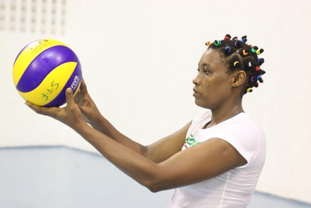 La fin d'un chapitre : Jerina Bonne, une des vétéranes du volley-ball des Seychelles, tourne la page, après les Jeux Africains.