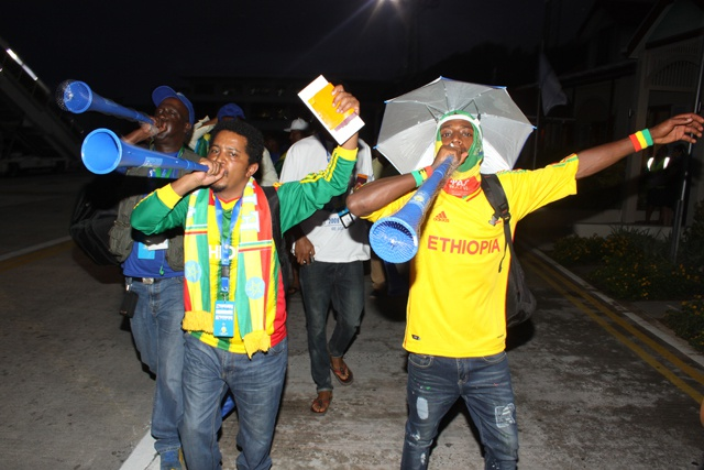 Fans rally behind the 'Walias': 400 Ethiopian football supporters in Seychelles for CAN 2017 qualifiers