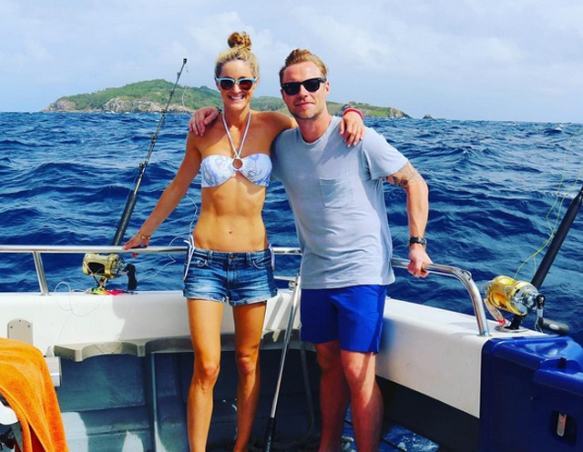 Honeymoon-zone: boyband star Ronan Keating whisks new wife to Seychelles… for a spot of fishing!