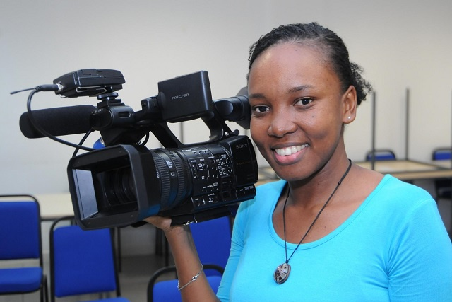Camera rolling! Working in a 'man's world' is not that difficult, says Seychelles national television's only camerawoman