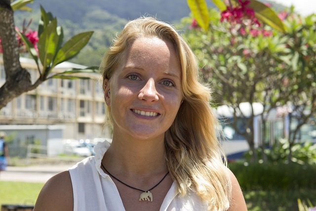 German environment and marine enthusiast joins University of Seychelles as the first international student