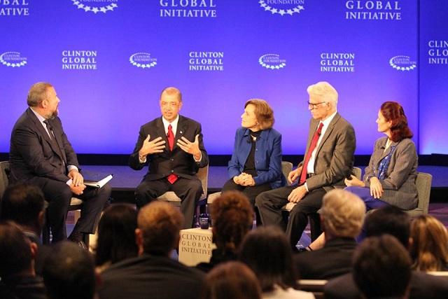 Le Président des Seychelles invite les autres pays du monde à collaborer dans la lutte contre les effets du changement climatique sur les océans lors de la Clinton Global Initiative 2015